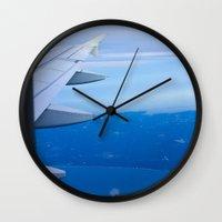 airplane Wall Clocks featuring Airplane by Gunjan Marwah