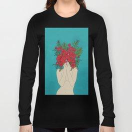 Blooming Red Langarmshirt