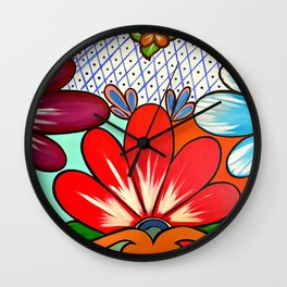 Talavera Tile Wall Clock