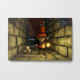 The Leprechaun and The Goblin - Fantasy Artwork Metal Print
