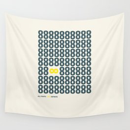 All finite - You infinite Wall Tapestry