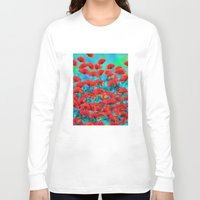 poppies Long Sleeve T-shirts featuring Poppies by Klara Acel