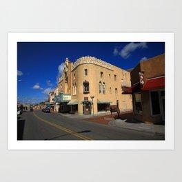 Santa Fe - Adobe Streets 2010 Art Print