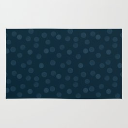 Dark blue polka dot Rug