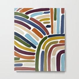 Abstract Modern  Lines Metal Print