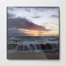 ocean  sunrise Metal Print