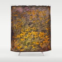 Yellow Jungle Shower Curtain