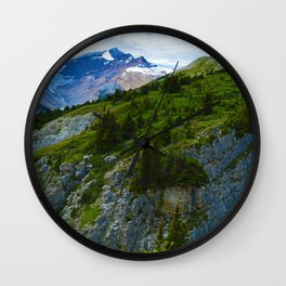 Views along the Wilcox Pass Hike in Jasper National Park, Canada Wall Clock