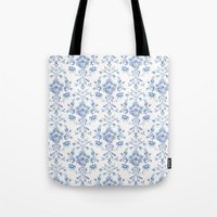 damask Tote Bags featuring Damask... by Catherine Ann Lewis