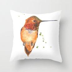 hummingbird, exotic birds, bird art Throw Pillow