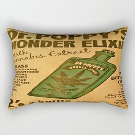 Vintage poster - Dr. Poppy's Wonder Elixir Rectangular Pillow