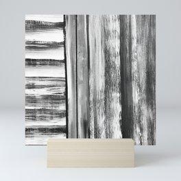 Wooden Shutters in New England Clam Chowder White Mini Art Print