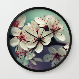 Cherry Blossom, Cherryblossom, Sakura, Vintage Style Wall Clock