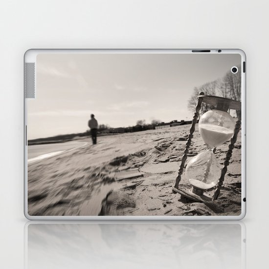 """Our memories of the ocean will linger on, long after our footprints in the sand are gone."" Laptop & iPad Skin"