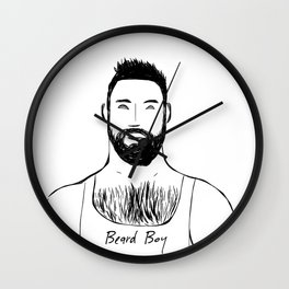 Beard Boy Classic 12 Wall Clock