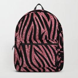 Pink Glitter Zebra Backpack
