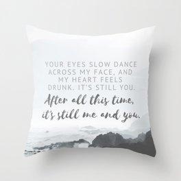 Slow Dance - Still Me & You Throw Pillow