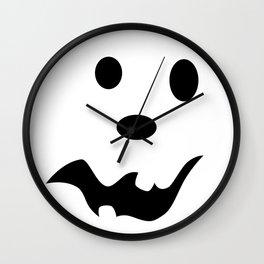 Scared Jack O'Lantern Face Wall Clock