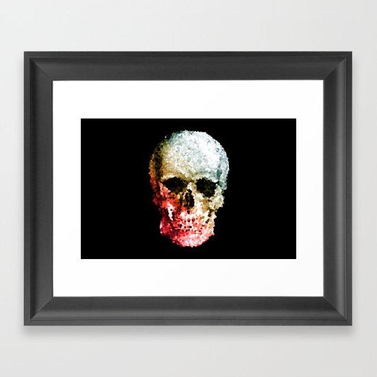 Skull Coloride Framed Art Print