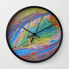 Dark Feather Mixed Media Abstract Wall Clock