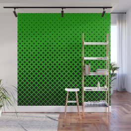 Green square pattern Wall Mural