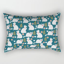Romantic cat pattern Rectangular Pillow