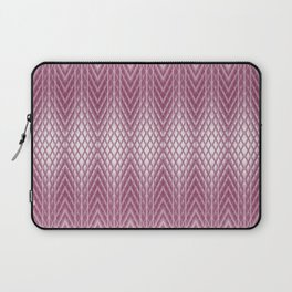 Icy Pink Frosted Geometric Relief Design Laptop Sleeve