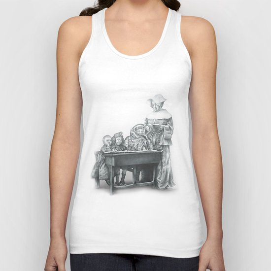 In which a cosmonaut is rendered quizzical Unisex Tank Top