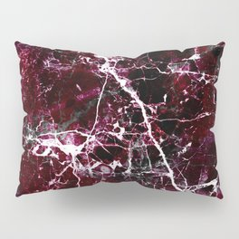 Modern abstract burgundy white stylish marble Pillow Sham