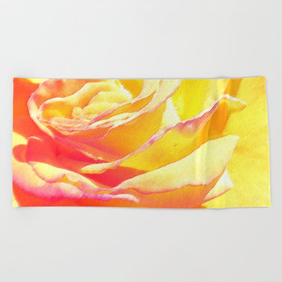 Love and Peace Pastel Rose Beach Towel