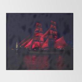 Scarlet Sails Throw Blanket
