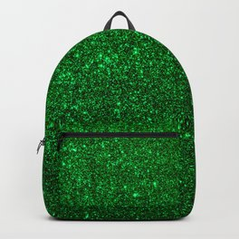 Christmas Evergreen Green Sparkly Glitter Backpack