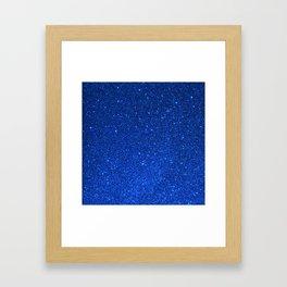 Sapphire September Libra Blue Birthstone Shimmering Glitter Framed Art Print