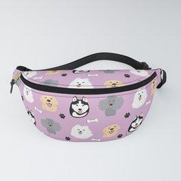 Cute Happy Doggies Pattern (pink) Fanny Pack