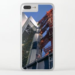 Saturn V Rocket - Apollo 12 Clear iPhone Case