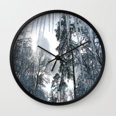 Icicle Dreams Wall Clock