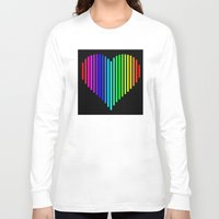 techno Long Sleeve T-shirts featuring Techno Love by JG Designs