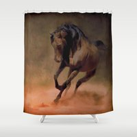 pride Shower Curtains featuring Pride by Robin Curtiss