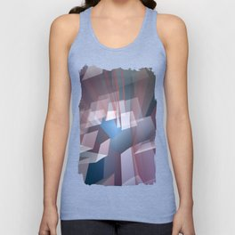 Kissing the sky, geometric fractal abstract Unisex Tank Top