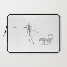 Trapeze artist and leopard Laptop Sleeve