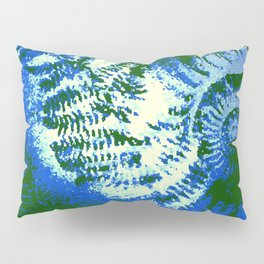 Ammonite Fossil Jungle Pillow Sham