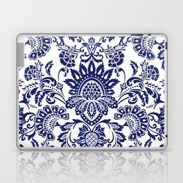 damask blue and white Laptop & iPad Skin