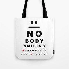"""Nobody Smiling"" 20/20 Vision - Bred Tote Bag"