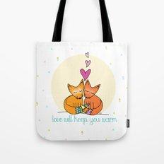 Foxy Love Tote Bag