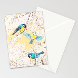 Eurasian tits Stationery Cards