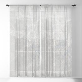 Winter Ice Crystals, Frost Xmas Pattern Sheer Curtain