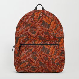 Redwood Leaves Autumn Colors Forest Floor Backpack