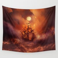nan lawson Wall Tapestries featuring Perfect storm. by Viviana Gonzalez