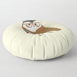 Owls Love Scarfs.  Floor Pillow