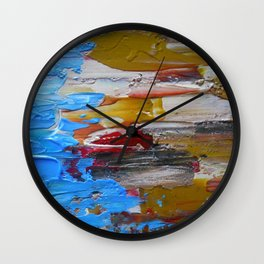 Beach Tide Acrylics On Stretched Canvas Wall Clock
